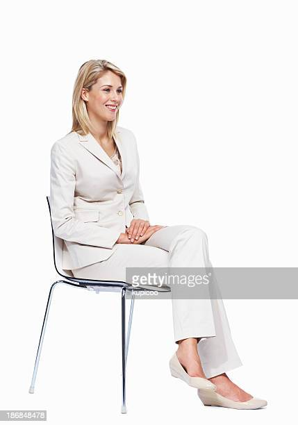 Woman listening to presentation