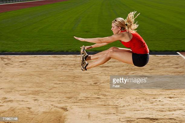 Woman Long Jumping