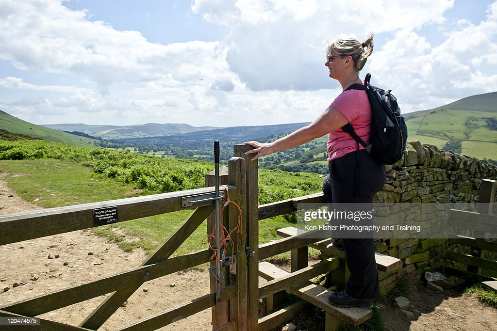 Woman looking at view : Stock Photo