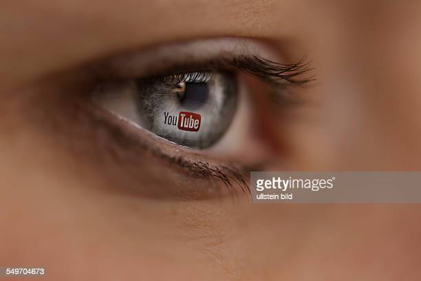 Woman looking at YouTube Internet site