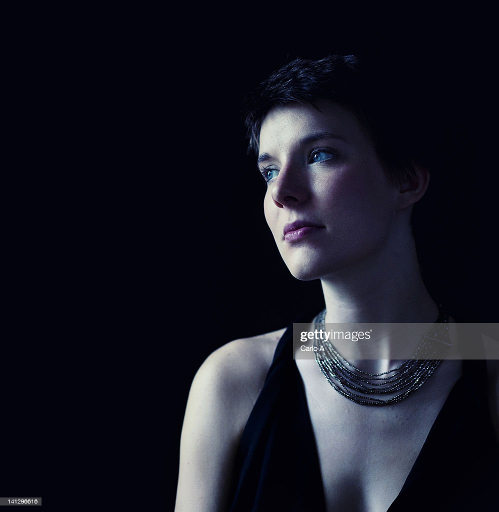 Woman looking away : Stock Photo