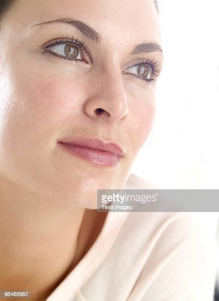 A woman looking away