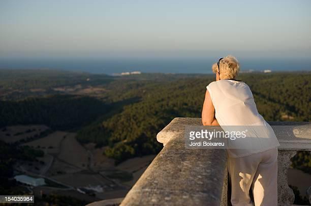 Woman looking landscape