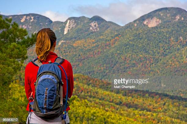 Woman Looking out over the Mountains