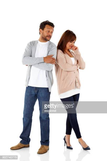 Woman looking upset with her boyfriend