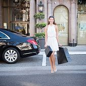 Woman Luxury Shopping