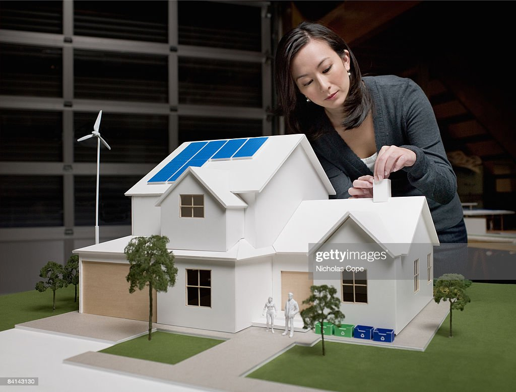 Woman Make Adjustments On Architectural Model Stock Photo Getty
