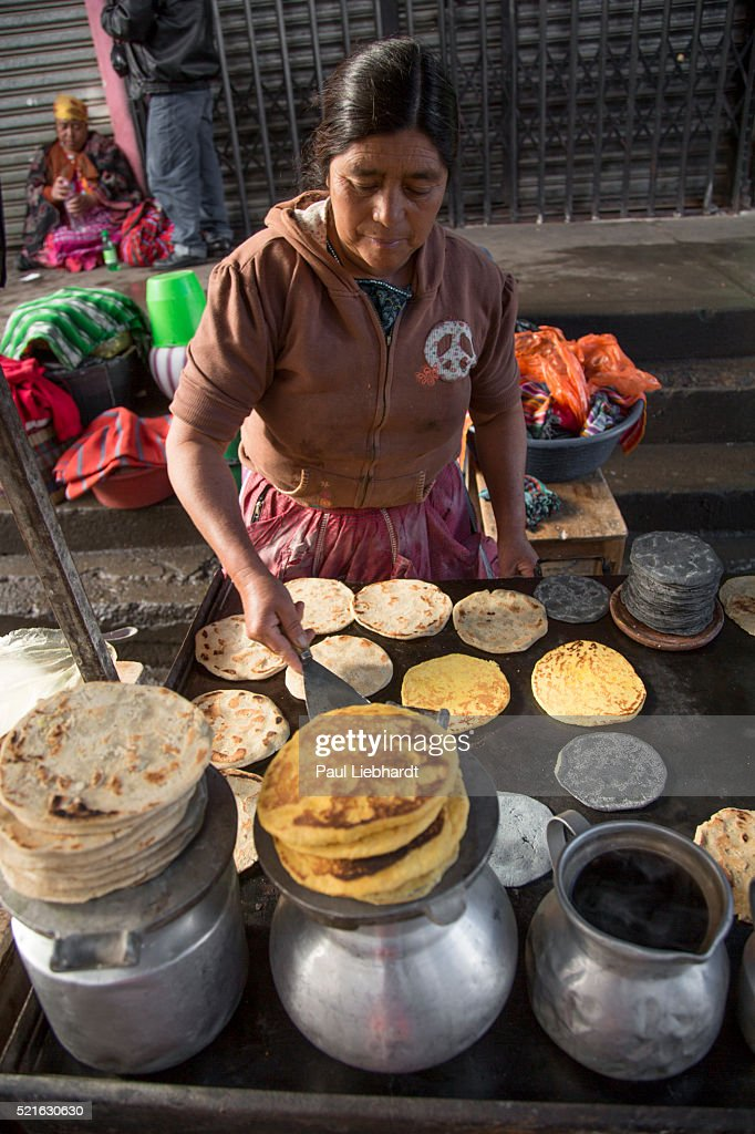 Woman Makes Tortillas and Pancakes
