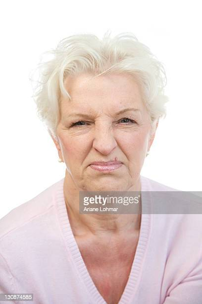 Woman, 60, making a face