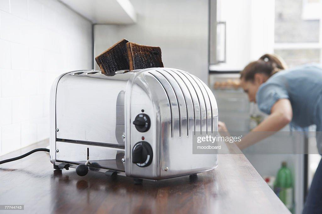 Woman Making Breakfast in a Hurry