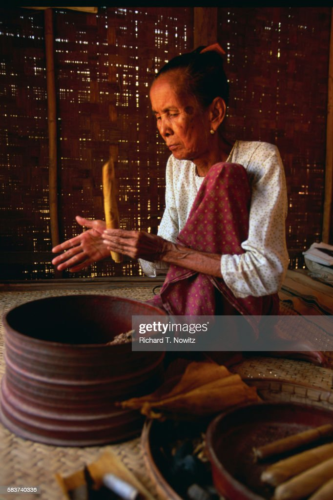Woman Making Cheroots