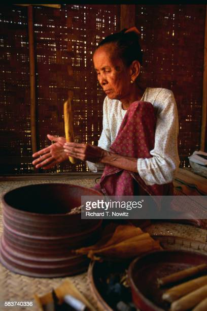 Woman Making Cheroots
