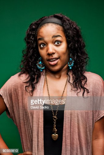 Woman making face : Stock Photo