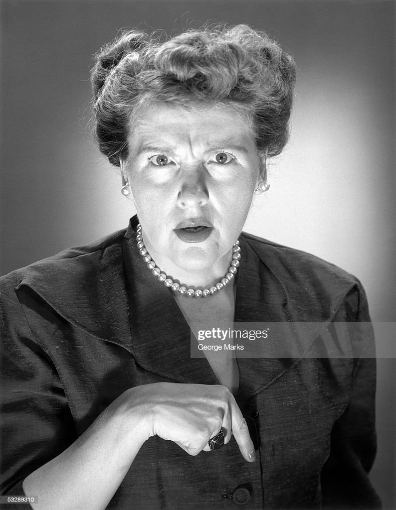 Woman making hand gesture : Stock Photo