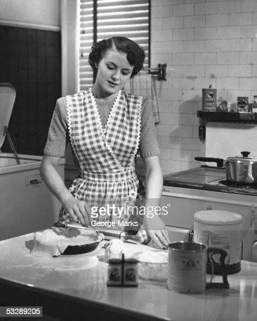 Woman making pie : Stock Photo