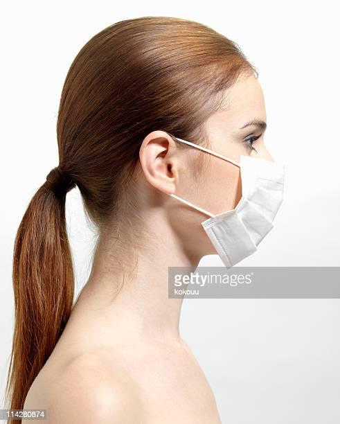 Woman masked.