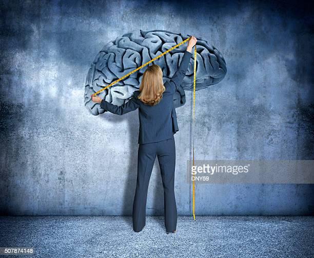 Woman Measuring Intelligence