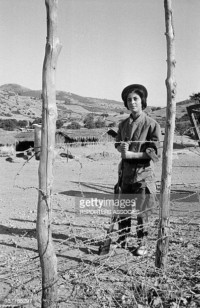 A woman member of ALN National Liberation Army in the countryside on September 13 1962 in Algeria