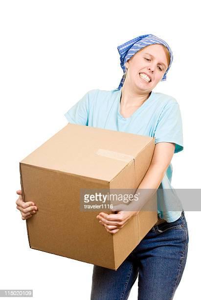 Femme se déplacer