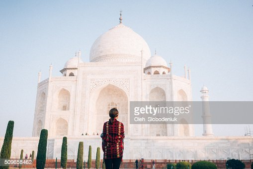 Woman near the Taj Mahal