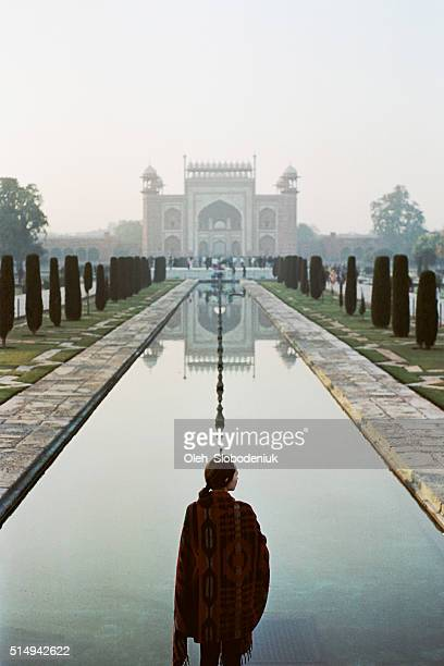 Woman near the Taj Mahal