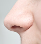 close up of woman nose