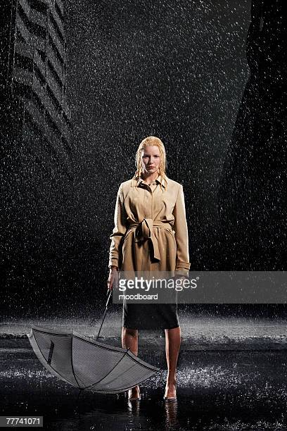 Woman Not Using Her Umbrella