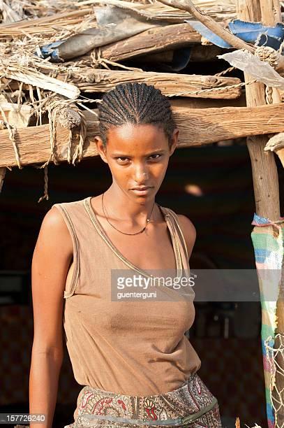 Woman of the Tigray-Tigrinya ethnic group, Danakil Desert, Ethiopia
