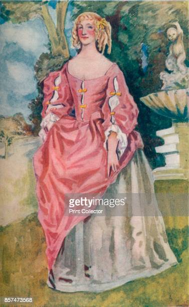 A Woman of the Time of Charles II' 1907 From English Costume painted and described by Dion Clayton Calthrop [Adam Charles Black London 1907] Artist...