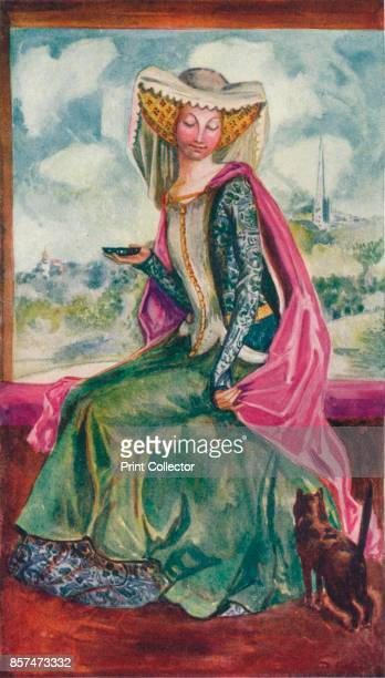 A Woman of the Time of Henry IV' 1907 From English Costume painted and described by Dion Clayton Calthrop [Adam Charles Black London 1907] Artist...