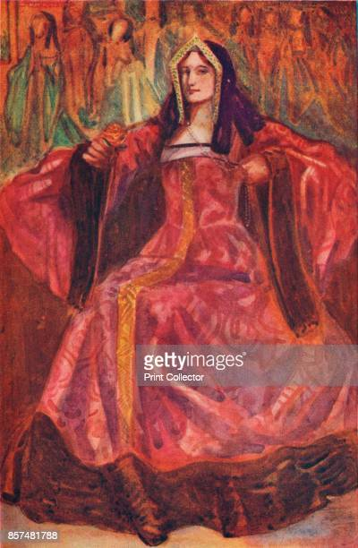 A Woman of the Time of Henry VII' 1907 From English Costume painted and described by Dion Clayton Calthrop [Adam Charles Black London 1907] Artist...