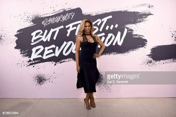 Woman of the Year 2014 actress and LGBTQ Advocate Laverne Cox poses during Glamour Celebrates 2017 Women Of The Year Live Summit at Brooklyn Museum...
