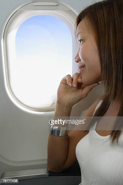 Woman on a Airplane