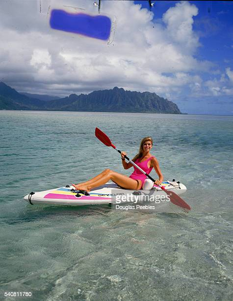 A Woman on a Paddle Board