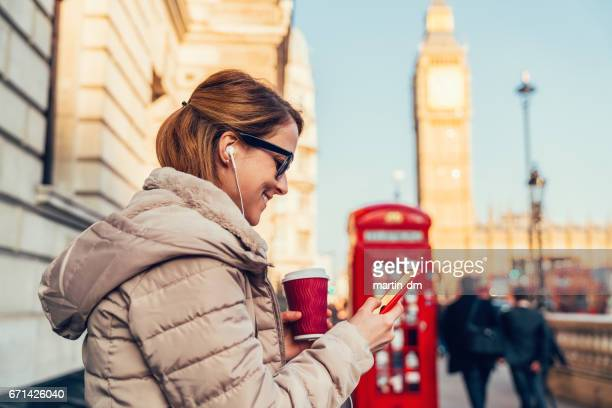 Woman on a vacation in London