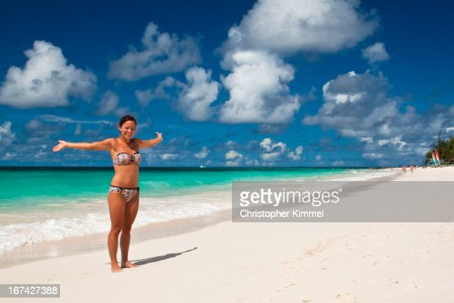 Woman on Beach : Foto de stock
