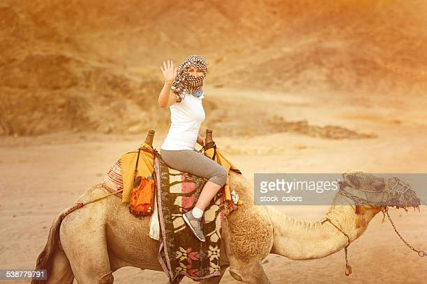 Mujer en camello