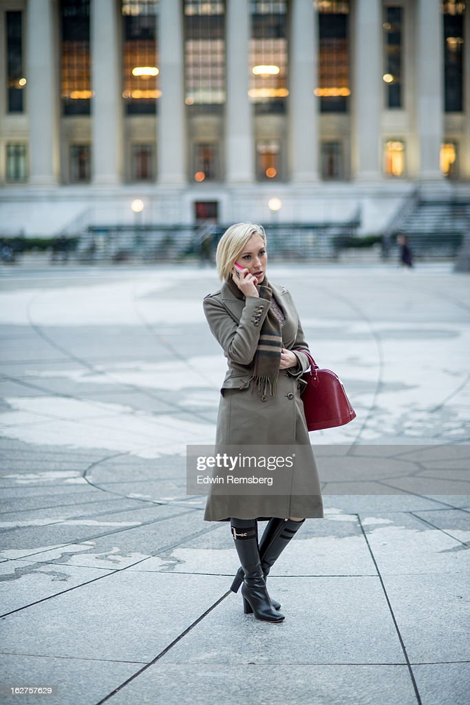 Woman on cell phone. : Stock Photo