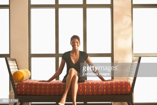 Woman on day bed