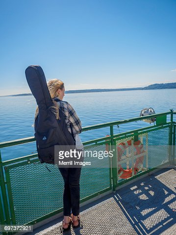 Woman on ferry