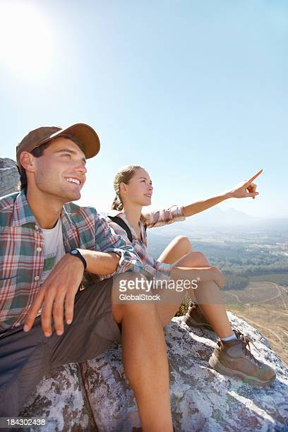 Woman on hike with handsome man