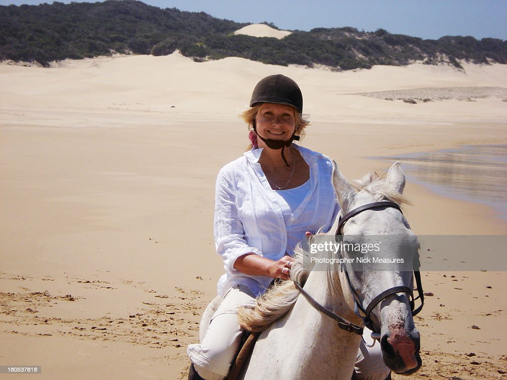 Woman On Horse : Stock Photo