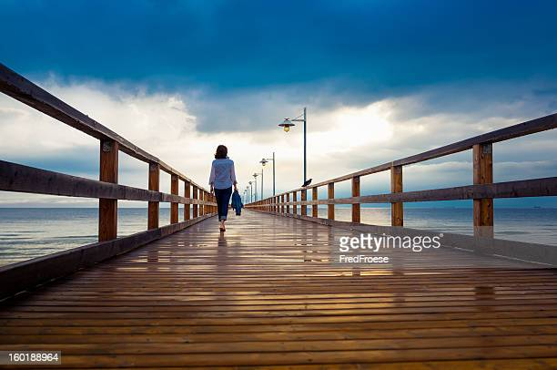 Woman on jetty