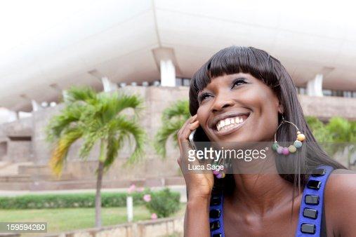Woman on mobile phone : Stockfoto