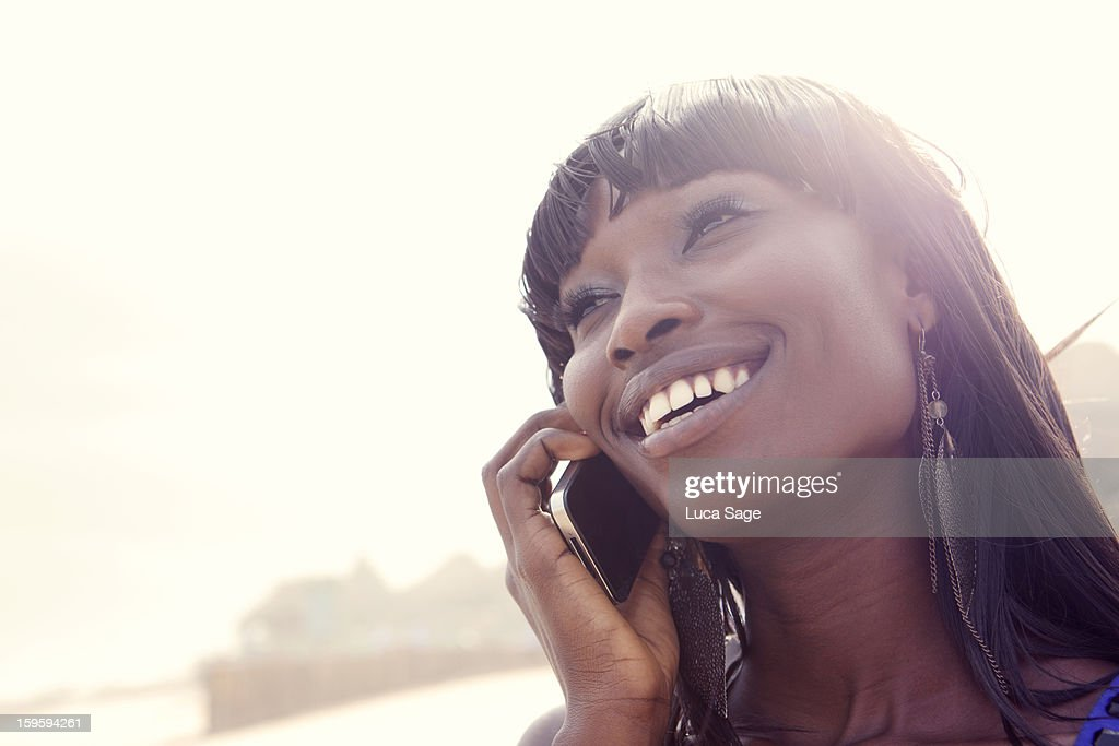 Woman on mobile phone : Stock Photo