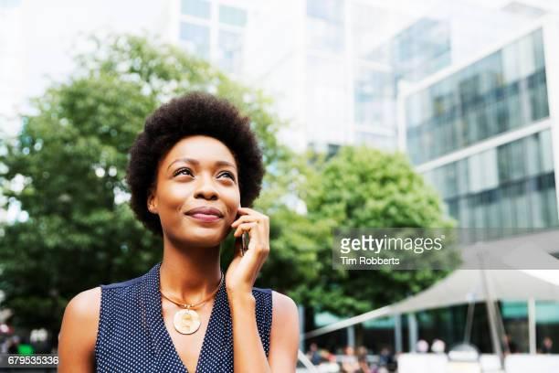 Woman on mobile