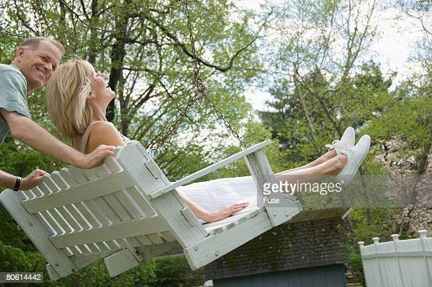 Woman on Porch Swing