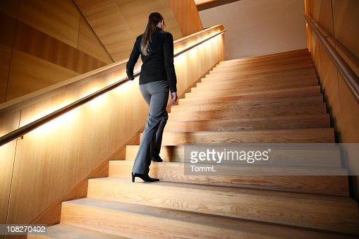 woman on staircase