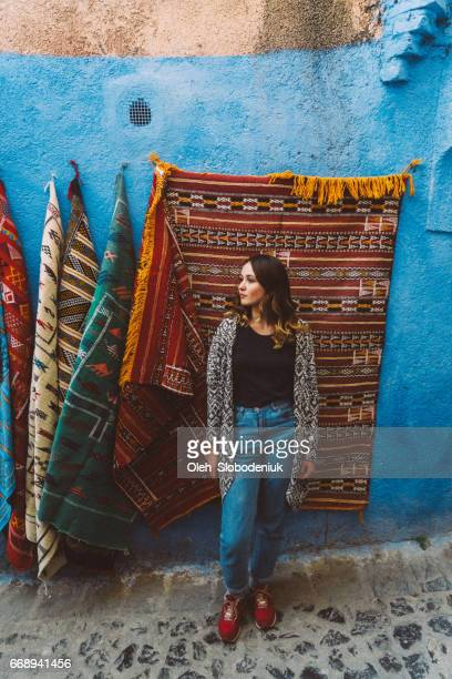 Woman on the streets of Chefchaouen