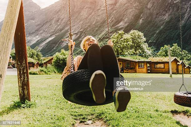Woman on the swing